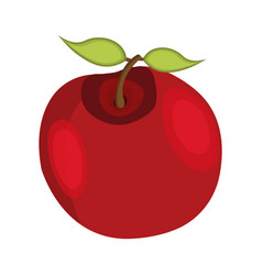 apple icon cartoon for thanksgiving day vector image