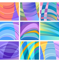 background modern abstract design set vector image vector image