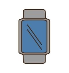 Cartoon smart watch wearable blue screen vector