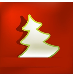 Christmas tree applique background eps8 vector