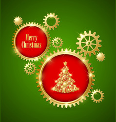 Christmas tree with decoration vector