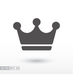 Crown - flat icon vector image vector image