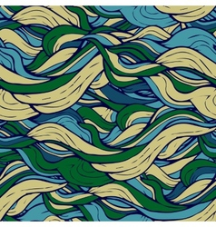 Decorative ornamental pattern hair algae vector image