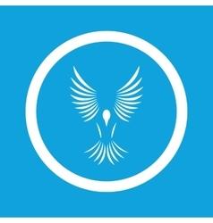 Flying bird sign icon vector