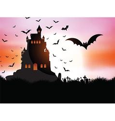Halloween landscape vector image vector image