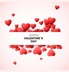 happy valentines day greeting card concept design vector image vector image