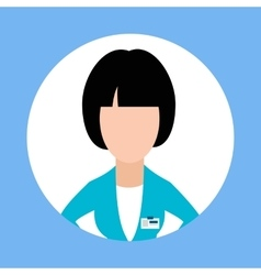 Icon doctor dentist woman flat design vector