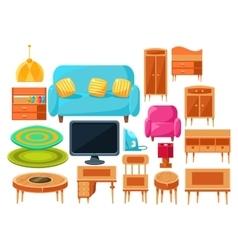 Living Room Interior Elements Set vector image
