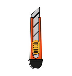 paper scalpel tool vector image