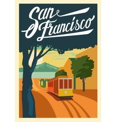 Poster san francisco california vector