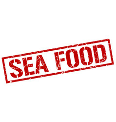Sea food stamp vector