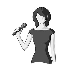 Singerprofessions single icon in monochrome style vector