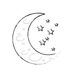 Sleeping moon cartoon vector