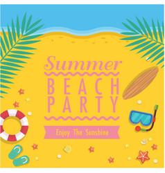 Summer beach party enjoy the sunshine beach backgr vector