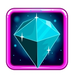 The application icon with gems 4 vector image