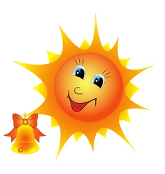 The sun with a bell vector image vector image