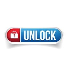 Unlock button vector image