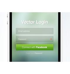 Web page login password security screen vector