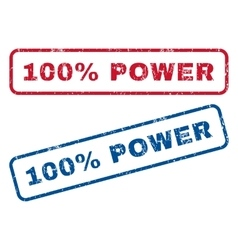 100 percent power rubber stamps vector