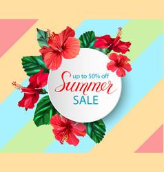 Summer sale announcement poster banner flyer vector