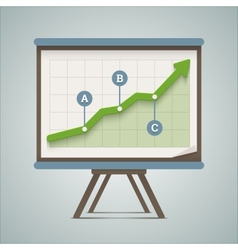 Growing chart presentation vector