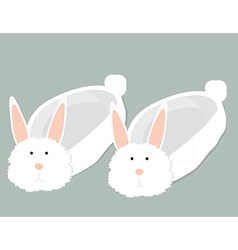 Bunny slippers vector