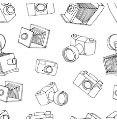 Old camera pattern vector