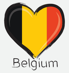 Love belgium flag vector