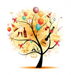 Party tree vector