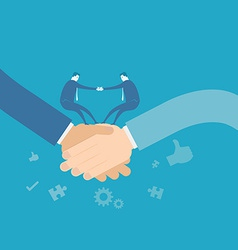 Business team shakehand vector image