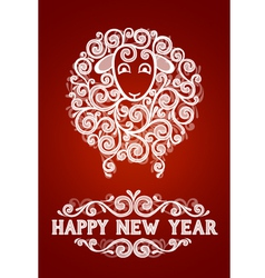 Abstract new year sheep vector