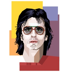 A handsome man in sunglasses vector