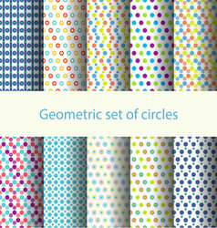 Geometric set of circles vector