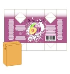 Design of small juice or milk shake box vector