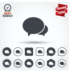 Speech bubbles icon chat or blogging sign vector