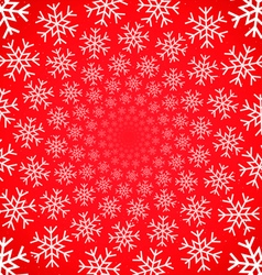 Snow vortex on red background vector