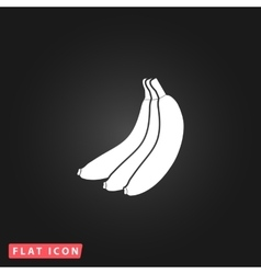 Banana flat icon vector