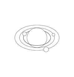 Solar system icon isometric 3d style vector image
