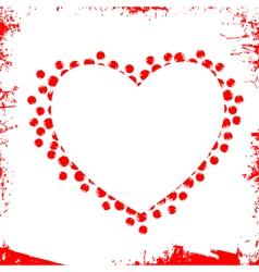 Abstract grunge heart vector