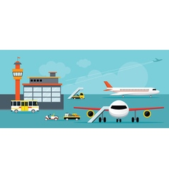 Airport terminal ground work vector