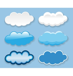 bubbles icon set vector image vector image