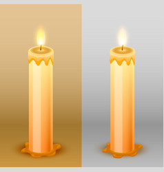 Candles on the background template design element vector