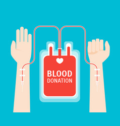 cartoon blood donor service card poster vector image vector image