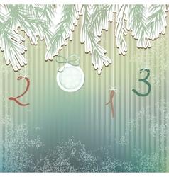 Christmas hand drawn fur tree design EPS8 vector image