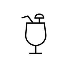 Coctail icons vector
