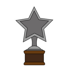 Color image cartoon trophy with symbol star vector
