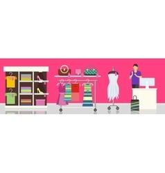 Fashion store shop dresses clothes vector