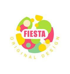 Fiesta original design logo colorful label for a vector