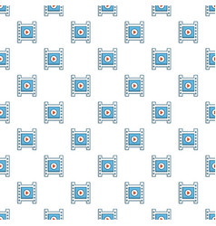 Film strip with play sign pattern vector
