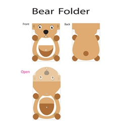 folder bear vector image